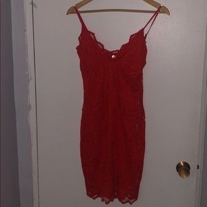 H&M orange lace bodycon mini dress